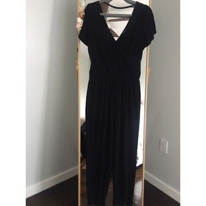 Jumpsuit brand new Express Wrap front deep back